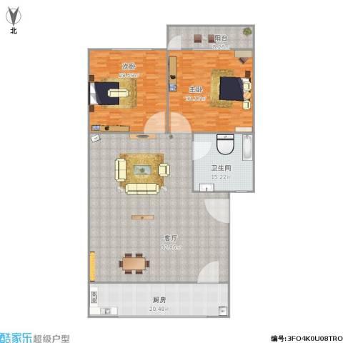 华信花园2室1厅1卫1厨243.00㎡户型图