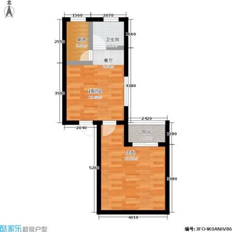 朱雀乐府1室0厅1卫1厨43.00㎡户型图