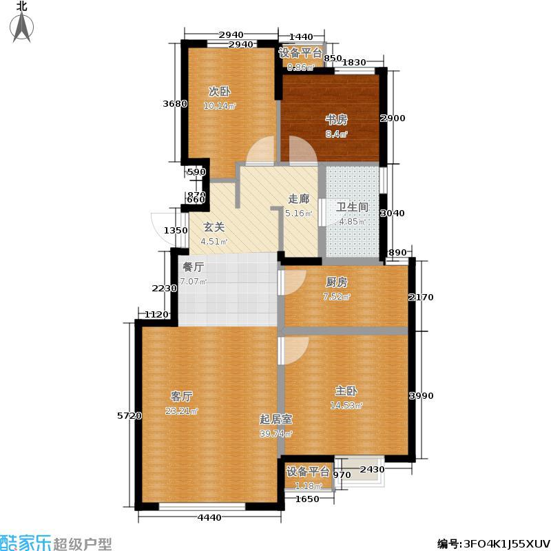 保利罗兰公馆102.00㎡一期洋房A1户型3室2厅