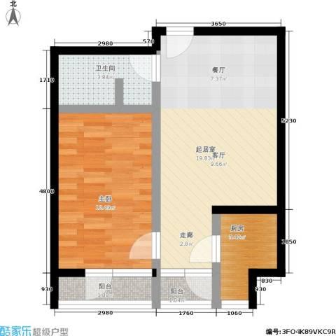 10am・新坐标1室0厅1卫1厨63.00㎡户型图