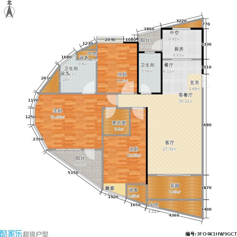 五矿万境水岸136.00㎡D3户型3室2厅