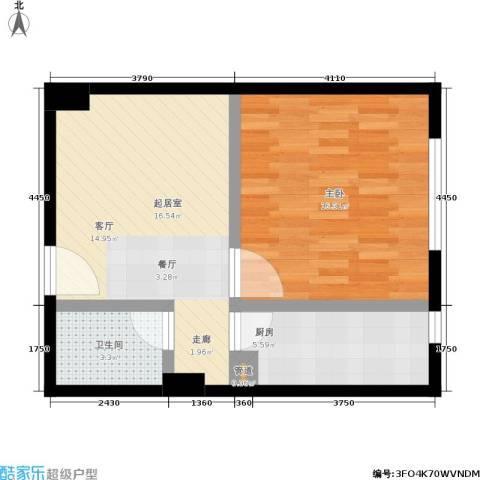 高欣公寓1室0厅1卫1厨49.00㎡户型图
