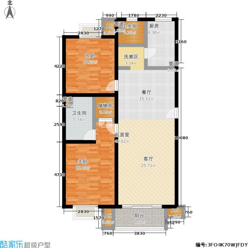 新大公寓116.38㎡房型: 二房; 面积段: 116.38 -116.38 平方米; 户型