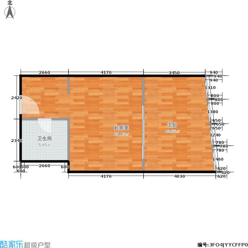 苏宁雅悦55.00㎡一期1幢标准层C3户型