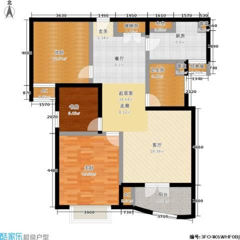 秋月枫舍二期3室0厅1卫1厨132.00㎡户型图