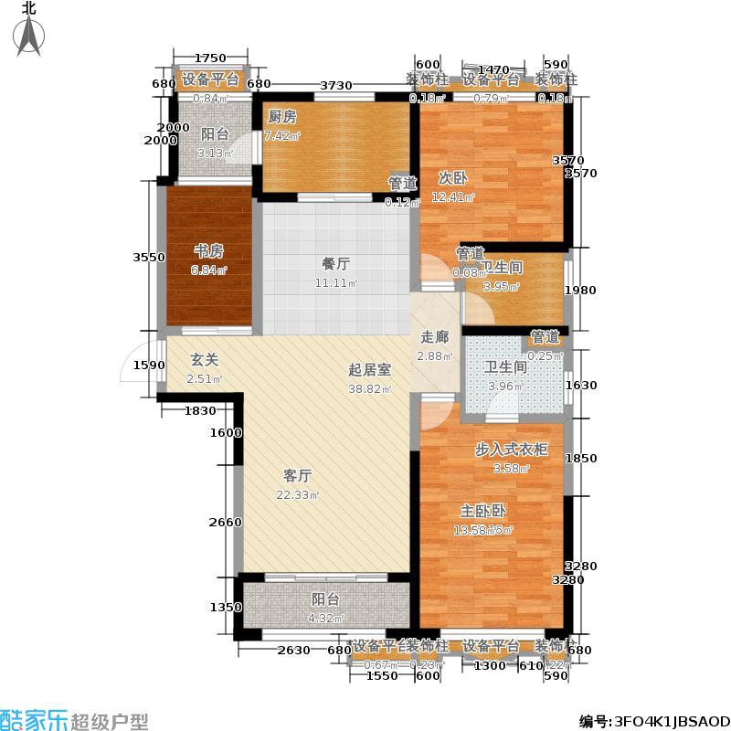天津碧桂园143.00㎡J84C户型3室2厅