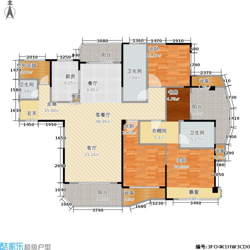 五矿万境水岸167.73㎡云境5#栋-2号房户型4室2厅