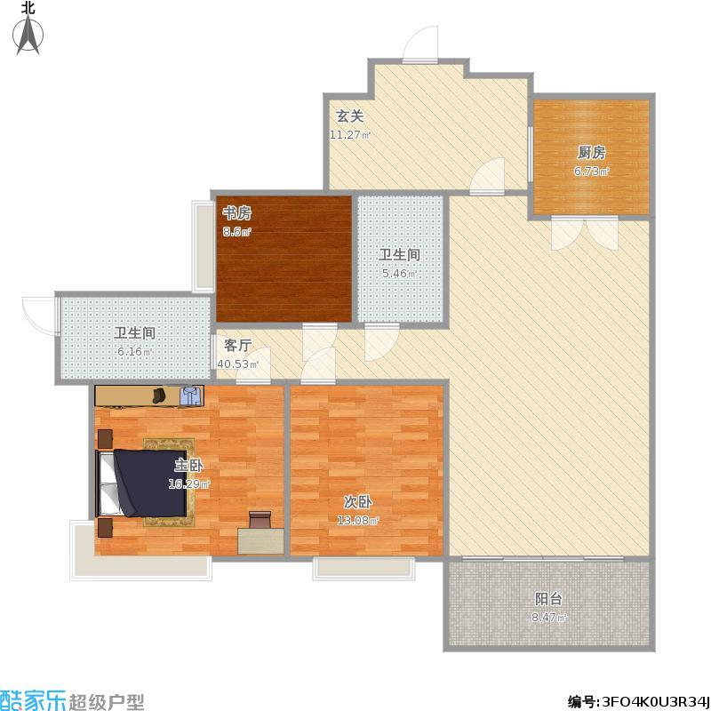 A11栋A1三房户型