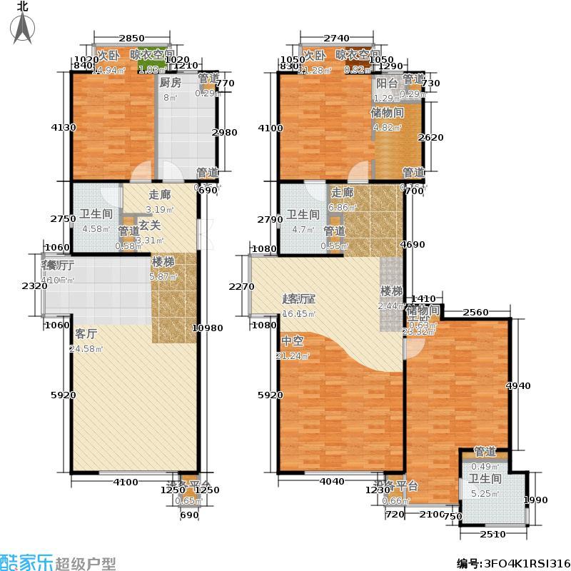 玉泉新城217.04㎡B9、12号楼B12-5-X02户型3室3厅