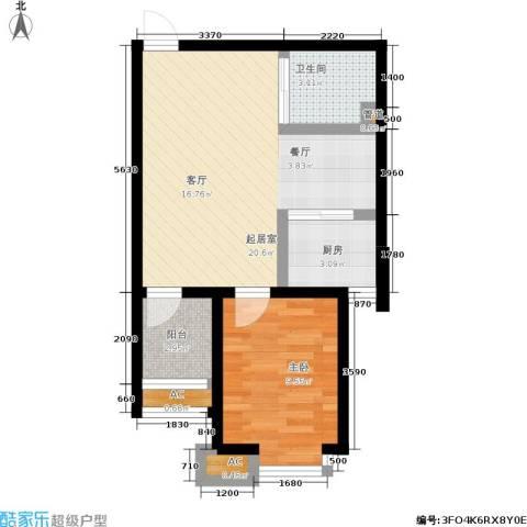 丹田医居社区1室0厅1卫1厨53.00㎡户型图
