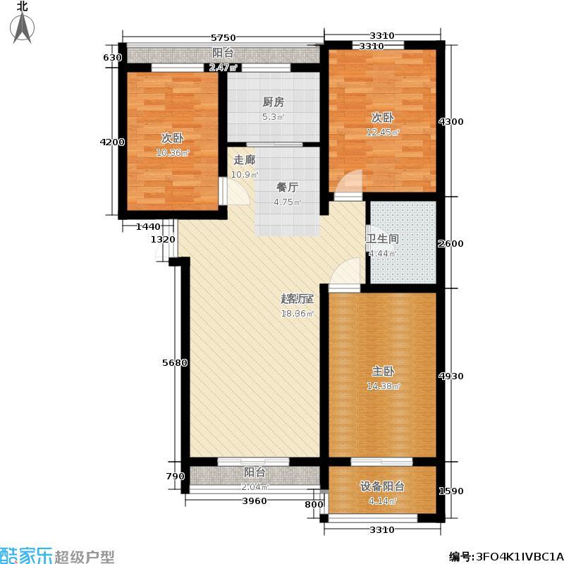 西部枫景傲城126.00㎡3#7#户型3室2厅