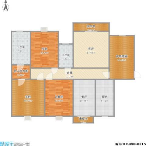 保利拉菲3室2厅2卫1厨168.00㎡户型图
