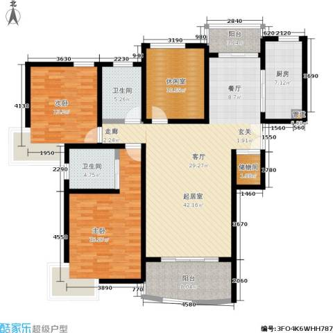 秋月枫舍二期2室0厅2卫1厨114.51㎡户型图