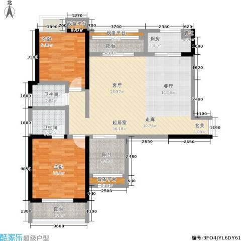 硚房翰林珑城2室0厅2卫1厨112.00㎡户型图