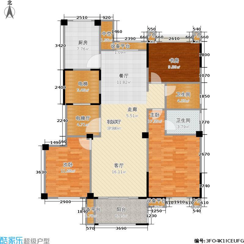 盛达城123.00㎡方茂D户型3室2厅