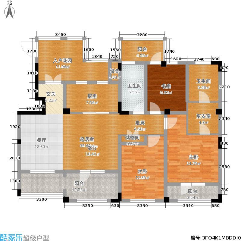 华茂中心139.00㎡洋房1户型3室2厅
