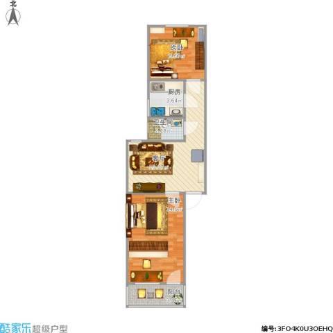 燕山小区2室1厅1卫1厨65.00㎡户型图