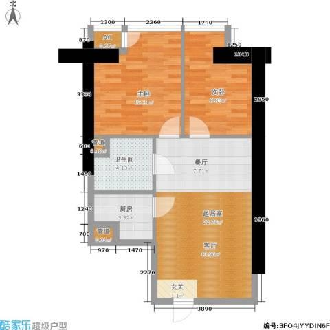 中商万豪2室0厅1卫1厨65.00㎡户型图