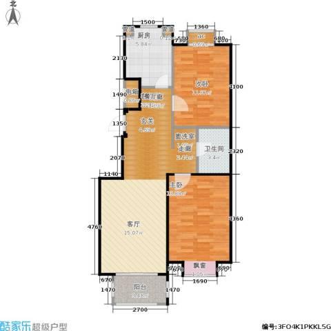 首创·悦树汇2室1厅1卫1厨85.00㎡户型图