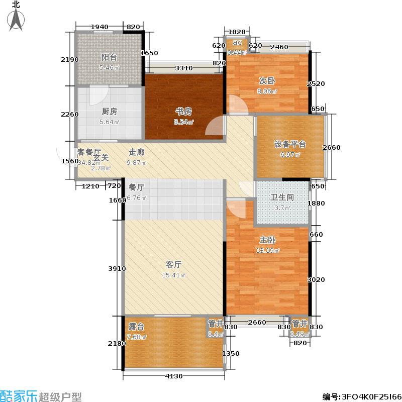 杭州天安富春硅谷102.00㎡高层边套户型