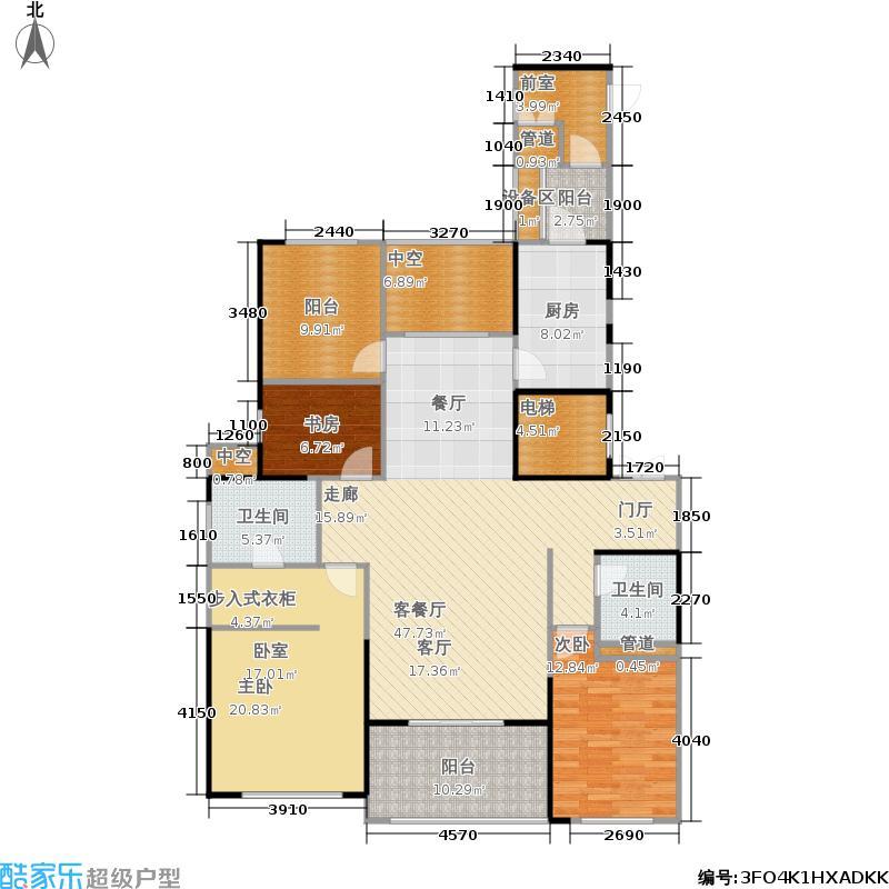 复地崑玉国际158.13㎡海蓝户型4室2厅