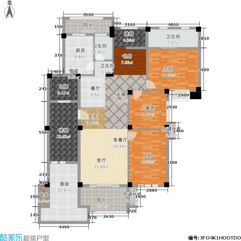 旷远洋湖18克拉洋房1-2-5-7-8#楼B二层户型