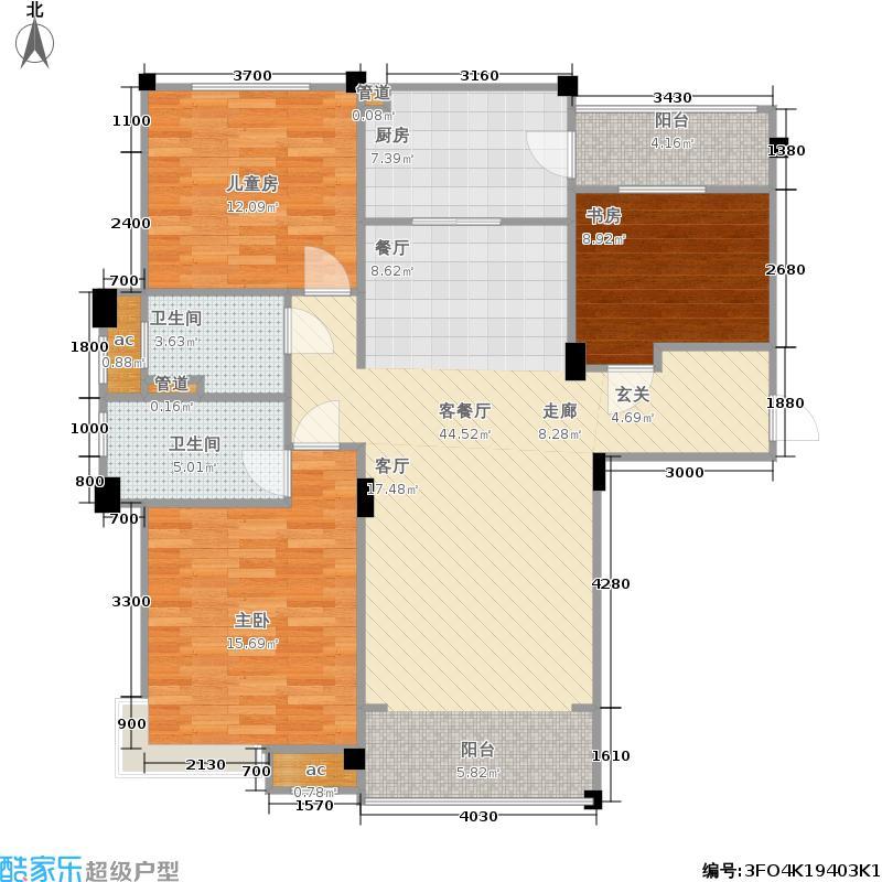 淄博碧桂园二期剑桥郡1-23号楼标准层J550-A户型
