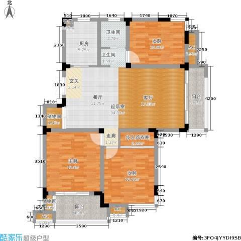 和园3室0厅1卫1厨115.00㎡户型图
