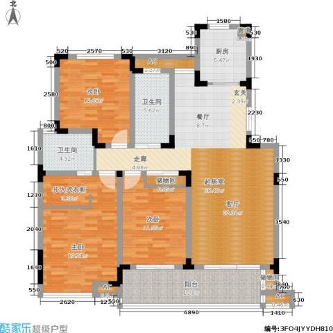 和园3室0厅2卫1厨136.00㎡户型图