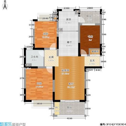康利华府3室0厅1卫1厨117.00㎡户型图