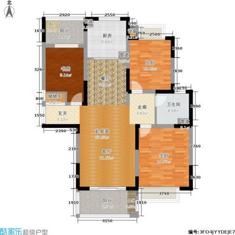 康利华府3室0厅1卫1厨121.00㎡户型图