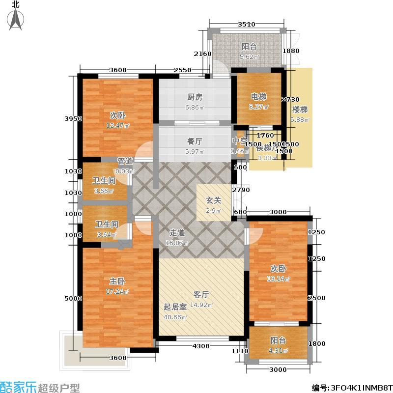 鑫界9号院150.00㎡1-3#楼5C户型3室3厅