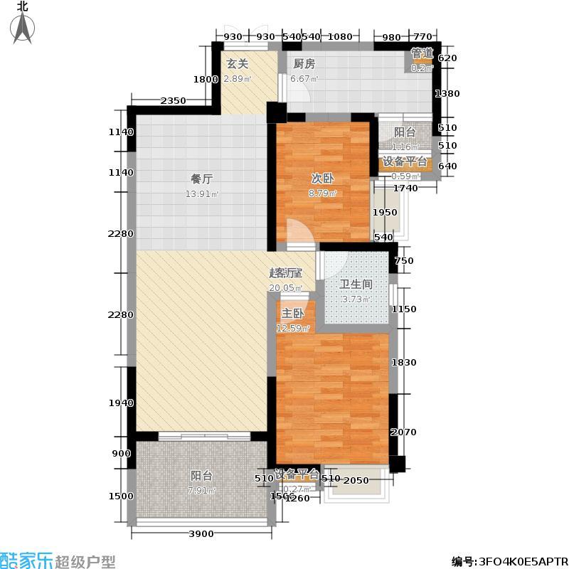 北京城建龙樾湾99.50㎡二期25、26号楼标准层B1户型
