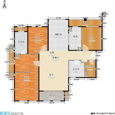 华润公元九里3室1厅2卫1厨157.00㎡户型图