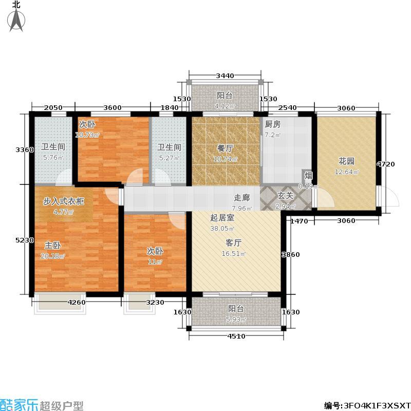 鸿威东方雅园鸿威・东方雅园A5+入房花园户型