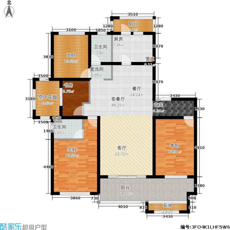 东盟森林板式住宅G户型4室2厅