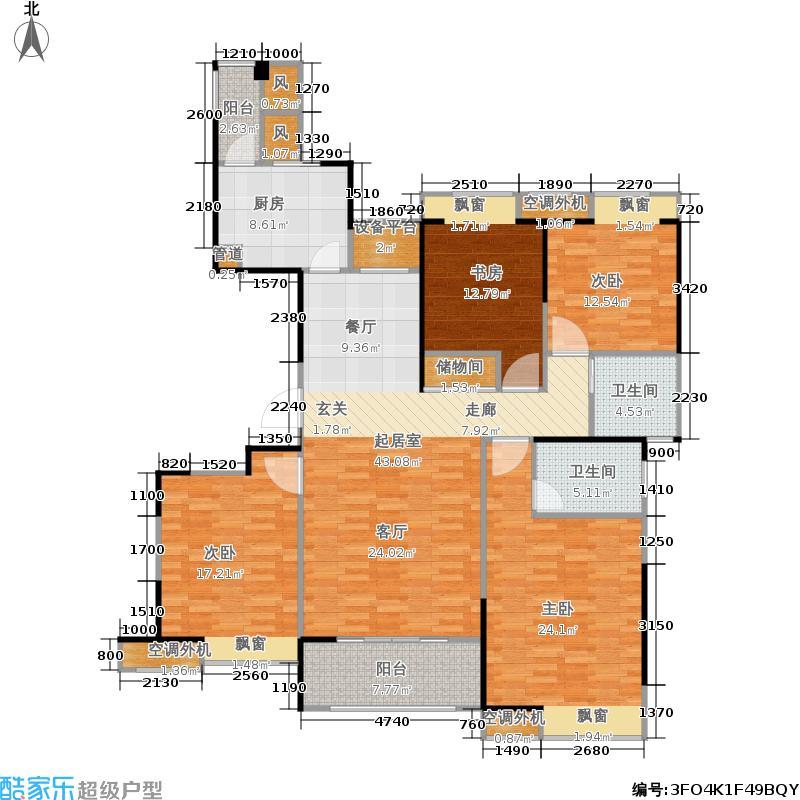 长江御园160.00㎡公寓H户型