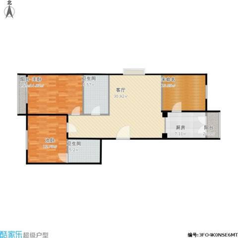 丰盈新园2室1厅2卫1厨122.00㎡户型图