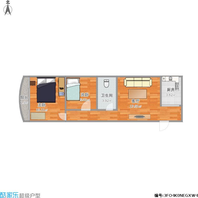 旺业51F户型两房一厅