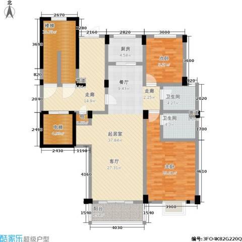 多蓝水岸2室0厅2卫1厨114.40㎡户型图