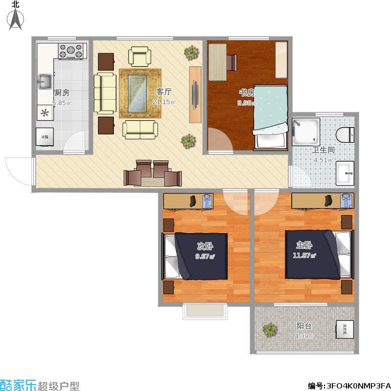 三室一厅B1泰和家园