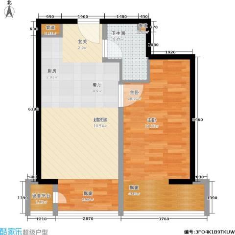 中信海港城1室0厅1卫0厨69.00㎡户型图