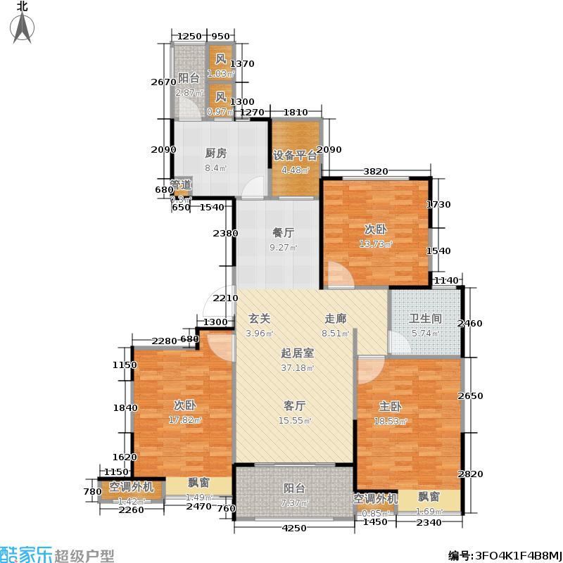 长江御园130.00㎡公寓D户型