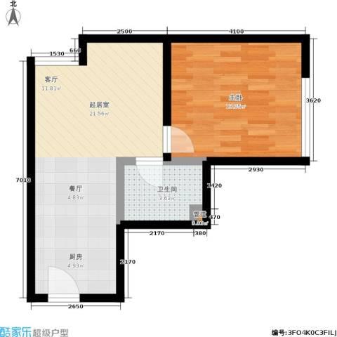 新城市广场1室0厅1卫0厨40.00㎡户型图