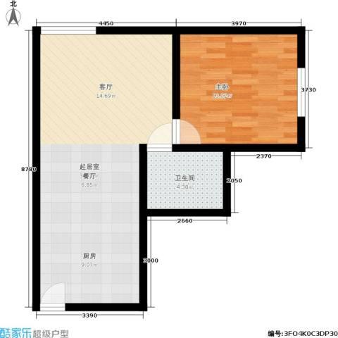 新城市广场1室0厅1卫0厨54.00㎡户型图