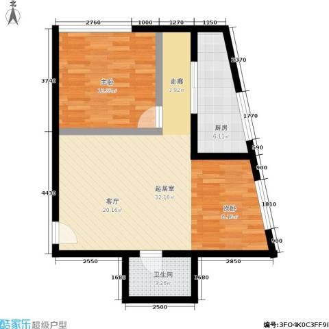 新城市广场1室0厅1卫1厨53.85㎡户型图