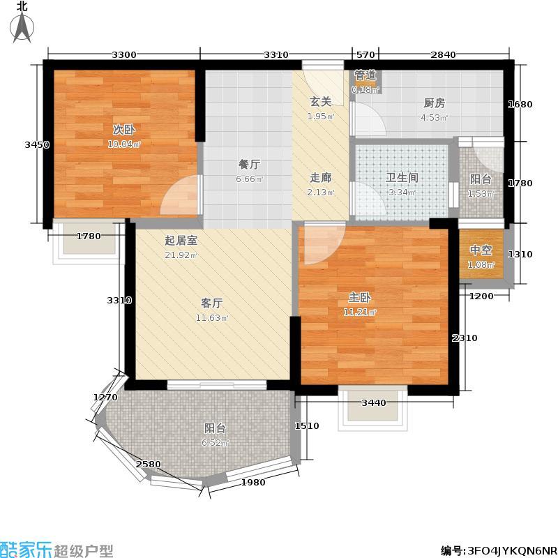 江南新天地二期82.08㎡一期7号楼L户型