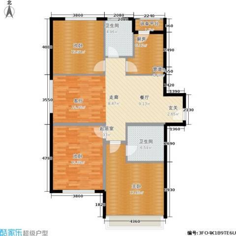 中信海港城3室0厅2卫1厨139.00㎡户型图