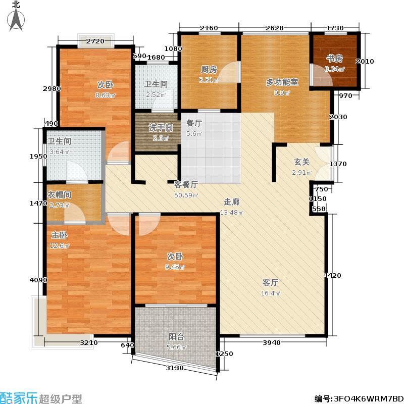 和润家园二期房型户型4室1厅2卫1厨