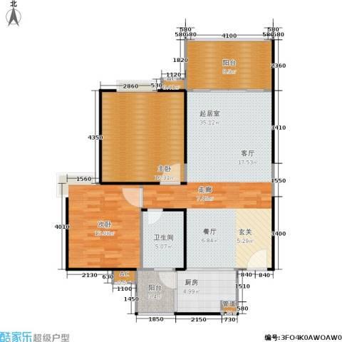 长房星城世家 长房2室0厅1卫1厨94.00㎡户型图